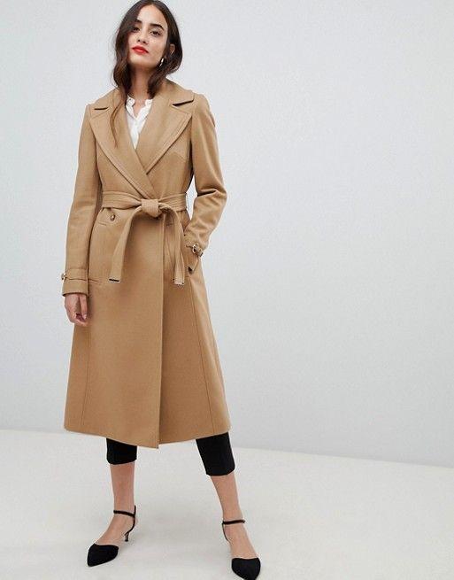 100% high quality up-to-datestyling reputation first Karen Millen wool wrap camel coat | Takki in 2019 | Camel ...