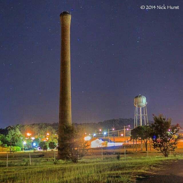 Avondale Birmingham Al: Avondale Mills Smokestack And Water Tower In Pell City, AL