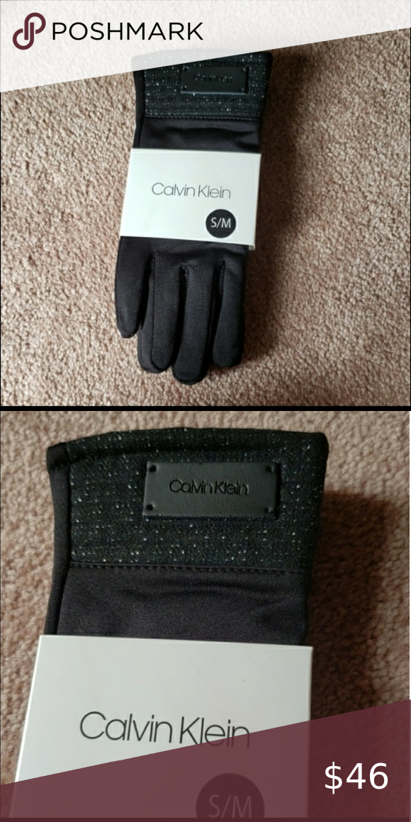 Brand New Women's Black Calvin Klein Gloves