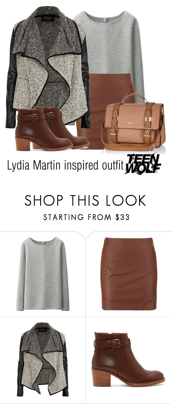 """""""Lydia Martin inspired outfit/Teen Wolf"""" by tvdsarahmichele ❤ liked on Polyvore featuring Uniqlo, ONLY, River Island, A.P.C., women's clothing, women, female, woman, misses and juniors"""