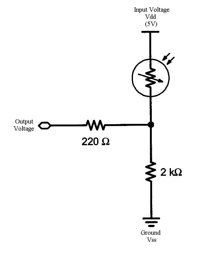 photoresistor circuit diagram
