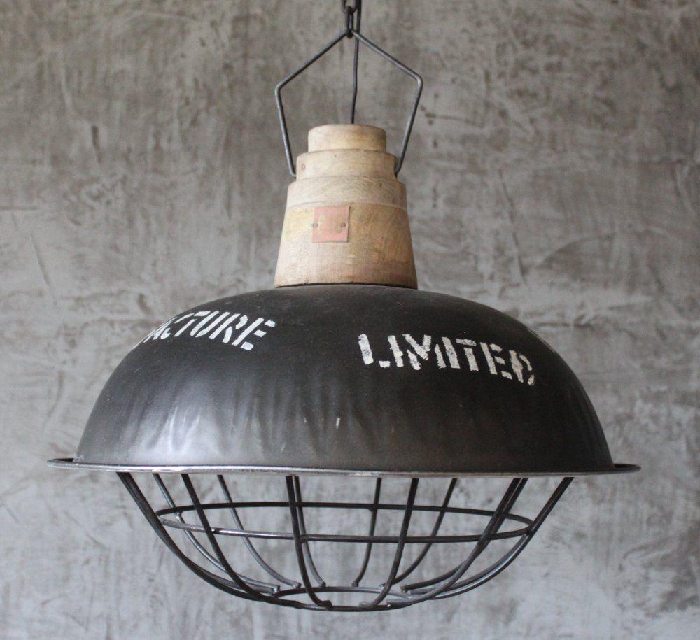 H ngelampe xxl fabriklampe h nge lampe 49 cm alte - Deckenlampe arbeitszimmer ...