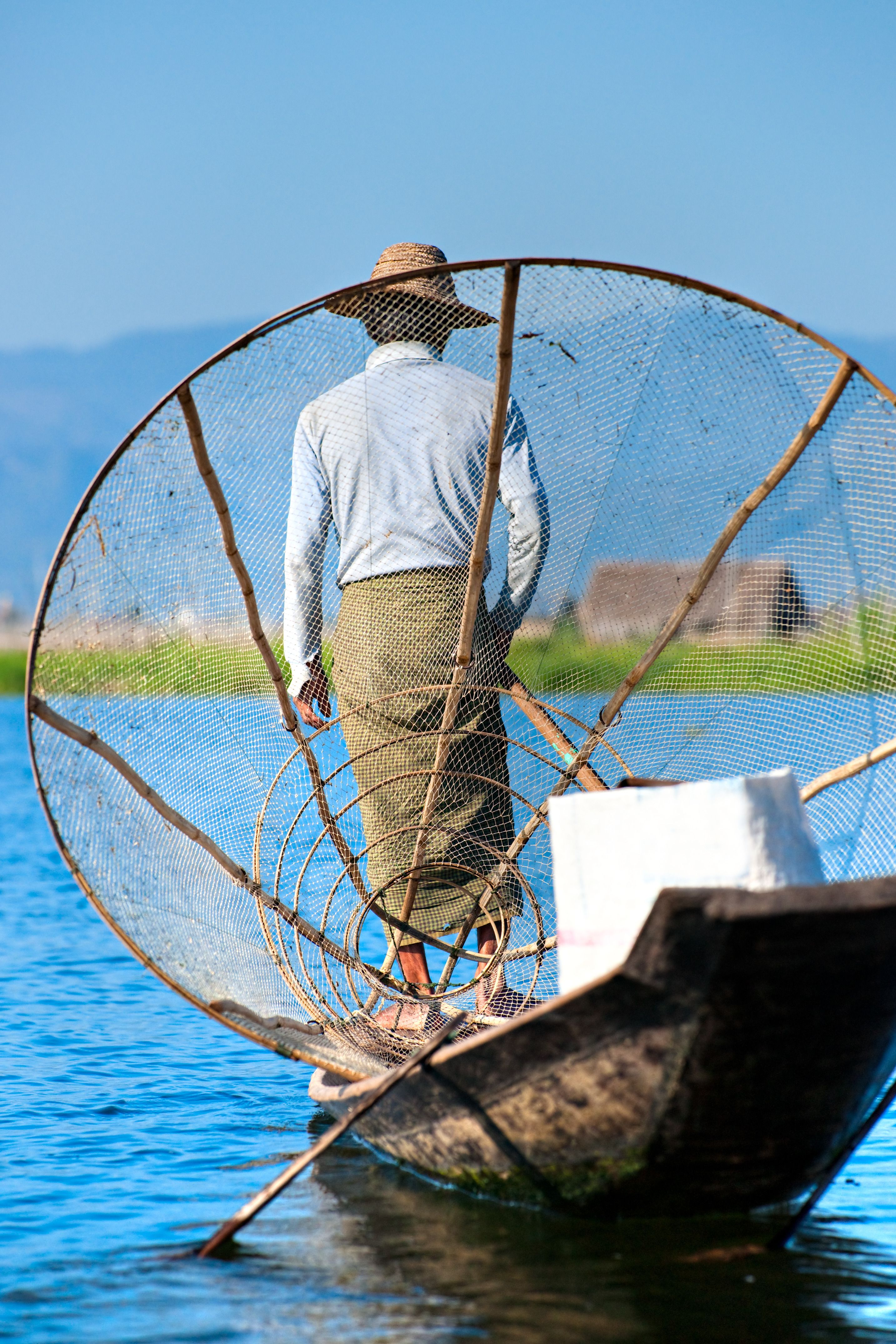 A fisherman in Inle Lake http://www.buffalotours.com/Myanmar-tours.html #myamar #burma #travel #buffalotours #tourism #adventure