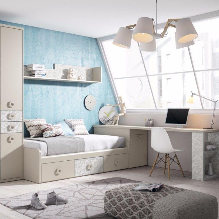 Junior room dormitorio juvenil mueble grupoexojo for Muebles juveniles zona sur
