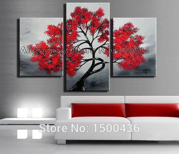 Comprar pintado a mano abstracta de pared for Proveedores decoracion hogar