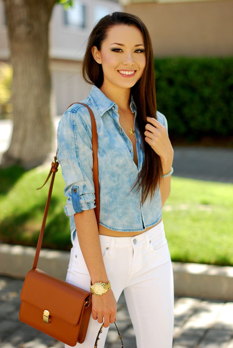 Hapa Time - a California fashion blog by Jessica - new fashion style - 2013 fashion trends: Chambray and White Denim