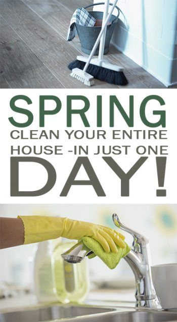 Spring Clean Your Entire House In Just One Day 101 Days Of Organization