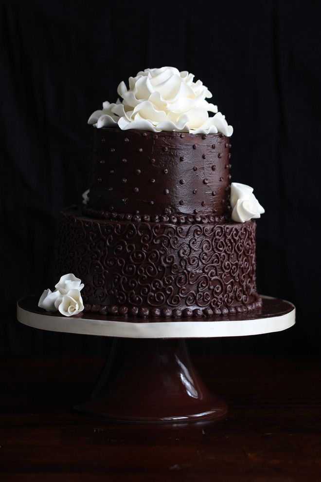 Two Tier Chocolate Cake Pretty Cake With Recipe Nice Cake Inspo
