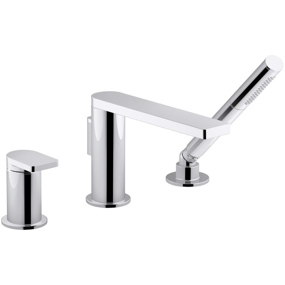 KOHLER Composed Single-Handle Deck-Mount Roman Tub Faucet with ...