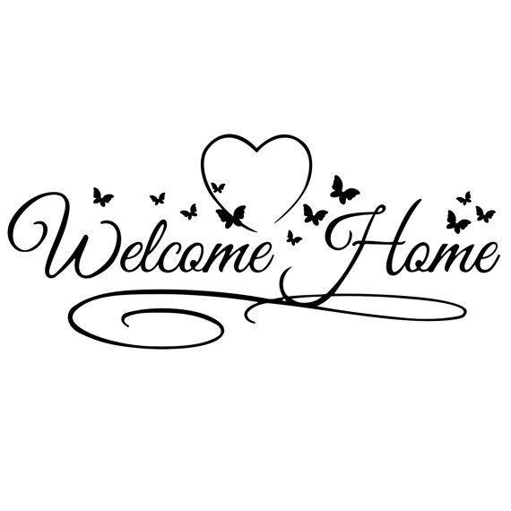 welcome home sign butterfly design svg dxf eps png cdr ai pdf vector rh pinterest ca Welcome Clip Art B Welcome Clip Art Black and White Rustic