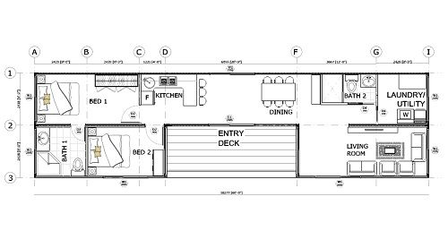 Sea container home floor plan container house plans - Simple container house plans ...