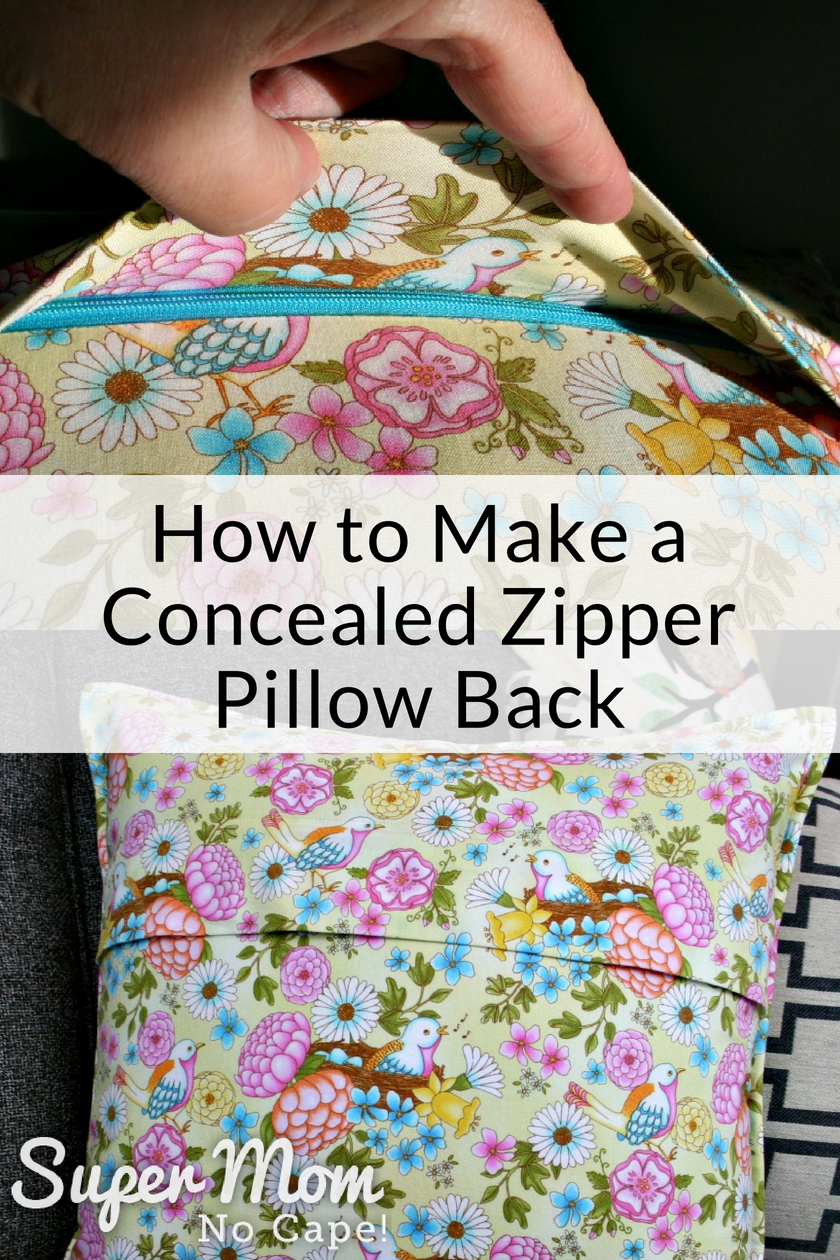 Sewing A Zipper In A Pillow.How To Make A Concealed Zipper Pillow Back Sewing Pillows