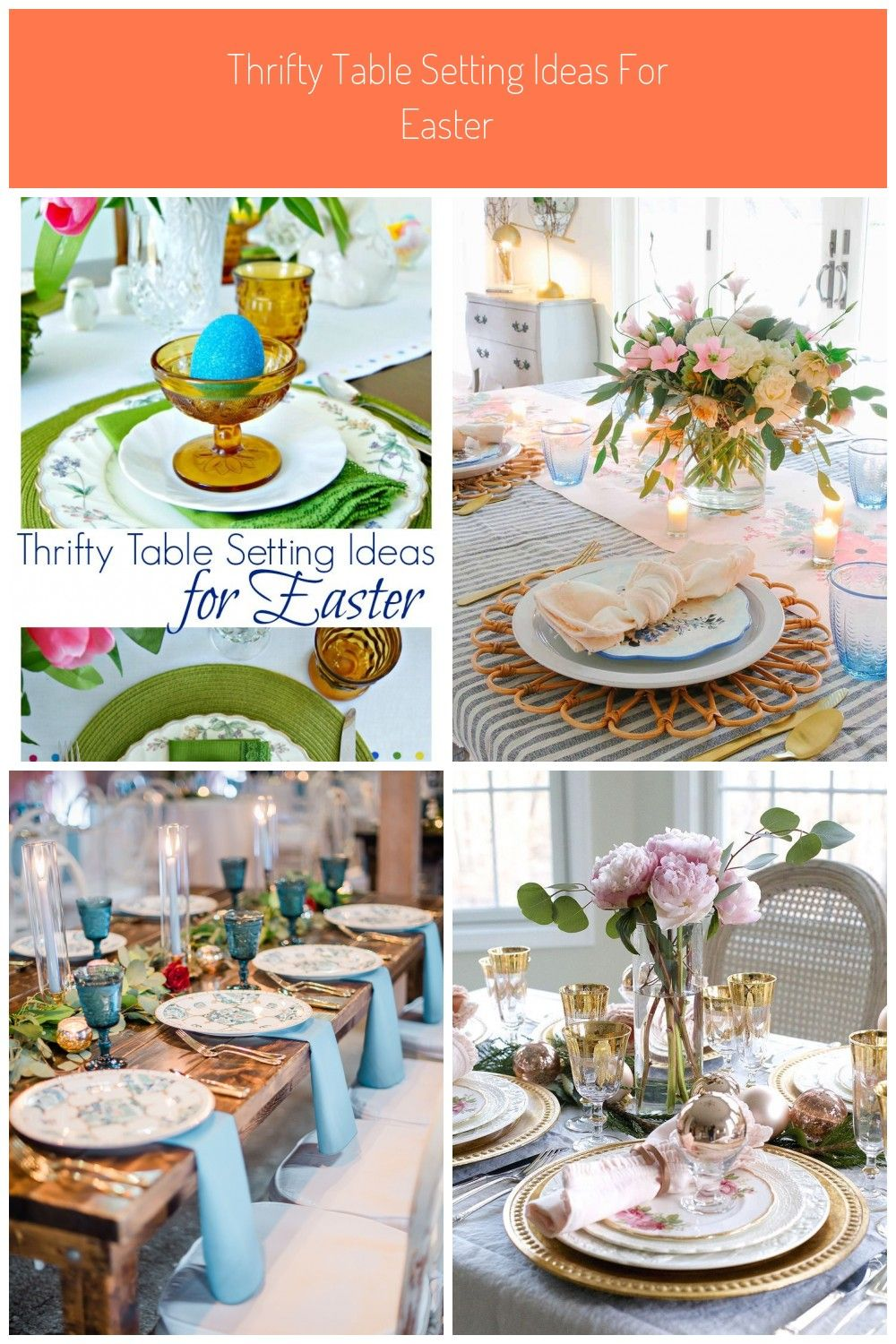 Fabulous Tips For Thrifty Table Setting Ideas For Any Party Ways To Save On Any Tablescape Pink And In 2020 Table Settings Spring Table Settings Easter Table Settings