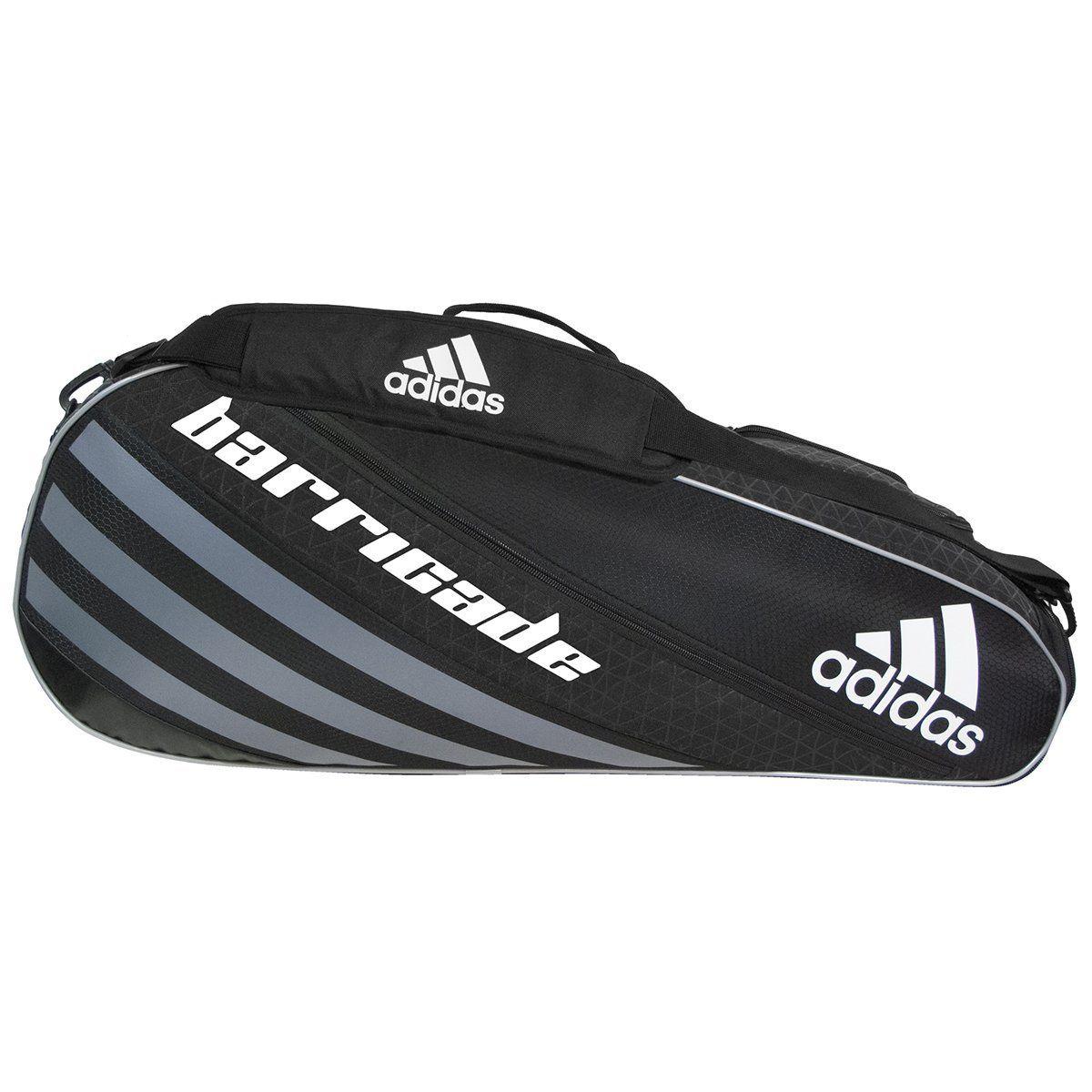 Amazon Com Adidas Barricade Iv Tour 3 Racquet Bag Black Dark Silver One Size Clothing Racquet Bag Adidas Barricade Tennis Backpack