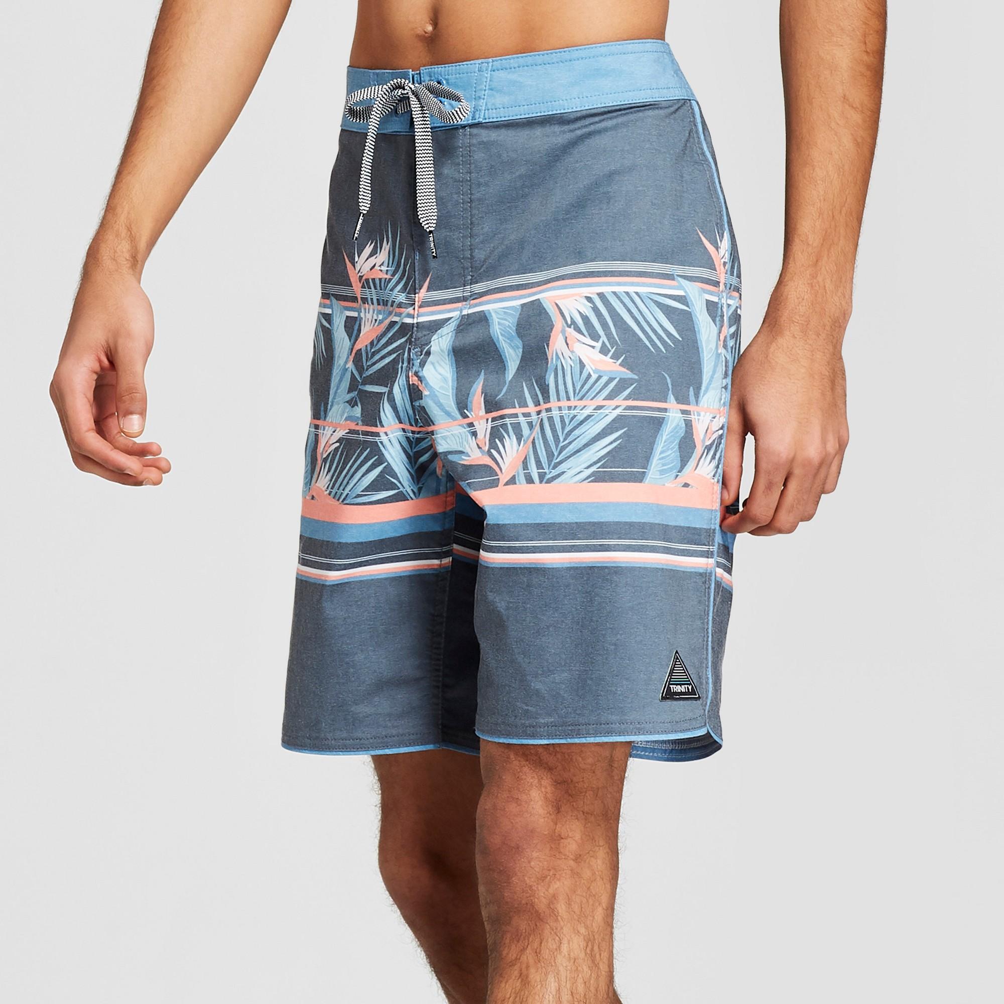 465d15b10e Men's Striped 8.5 Veracruz Scallop Board Shorts - Trinity Navy 32, Blue