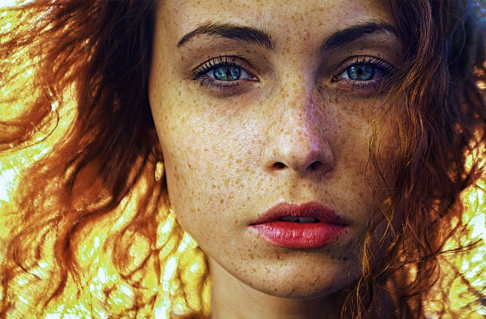 Freckles By Darya Chacheva On 500px Girl With Curly Hair