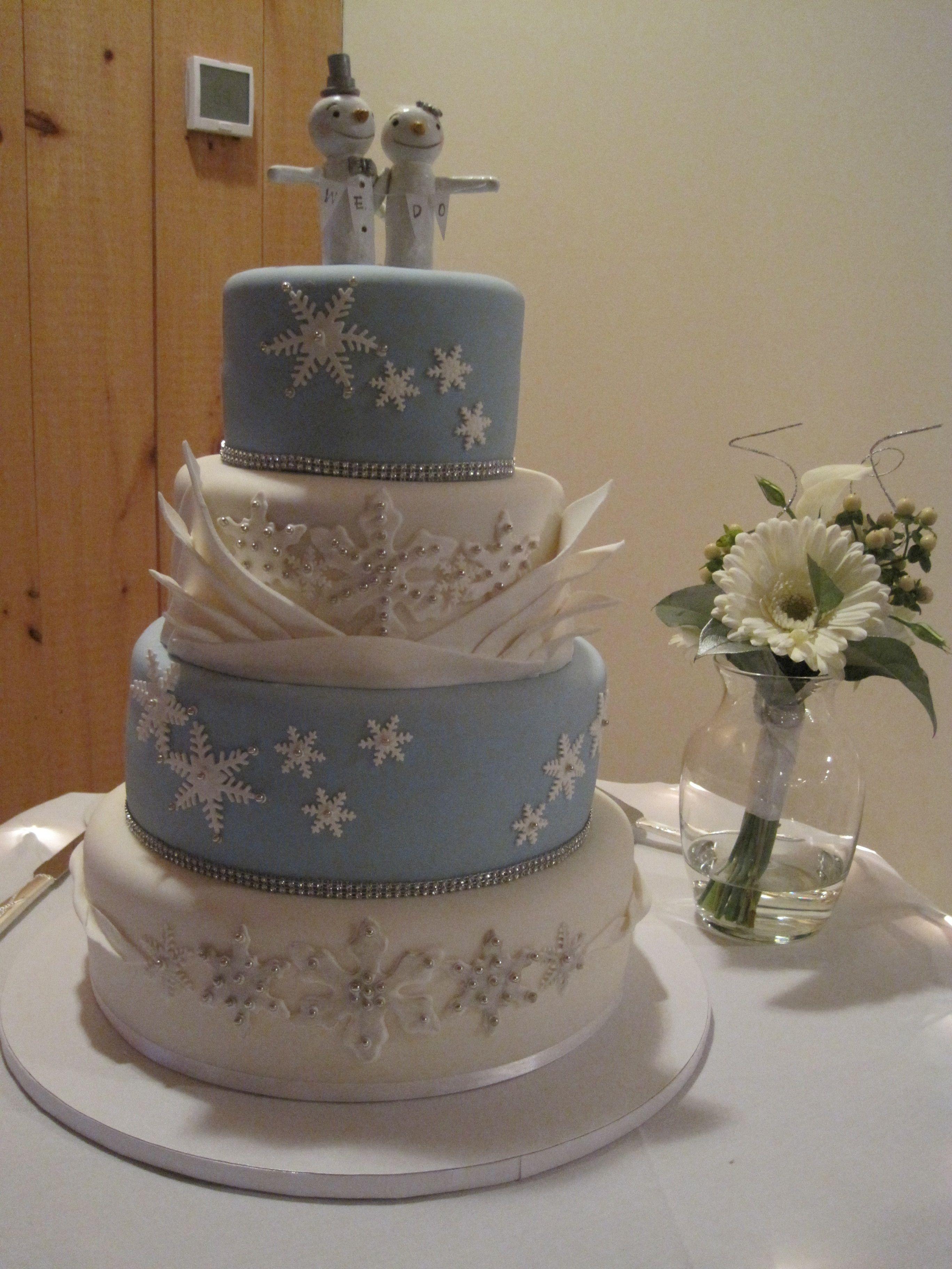 Winter wedding cake!