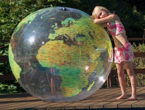 72 inflatable globe world beach ball earth map atlas c