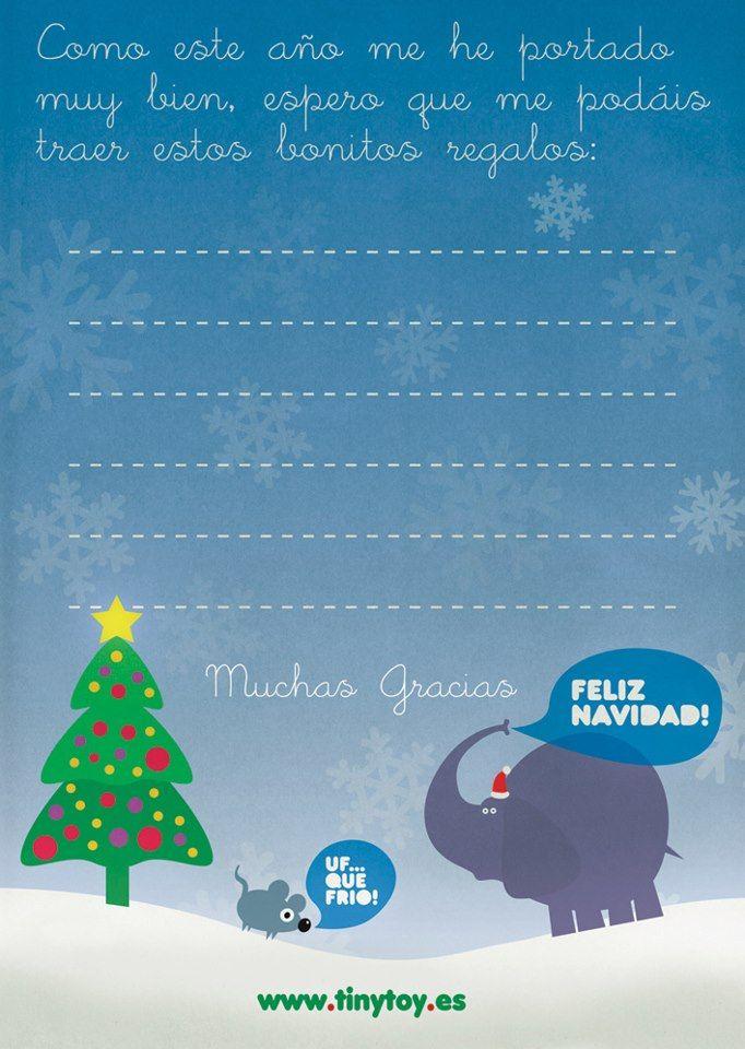 Carta para los Reyes Magos o Papá Noël... / Letter to the three wise men or Santa...  Recógela en nuestra tienda! / Pick it up at our store!