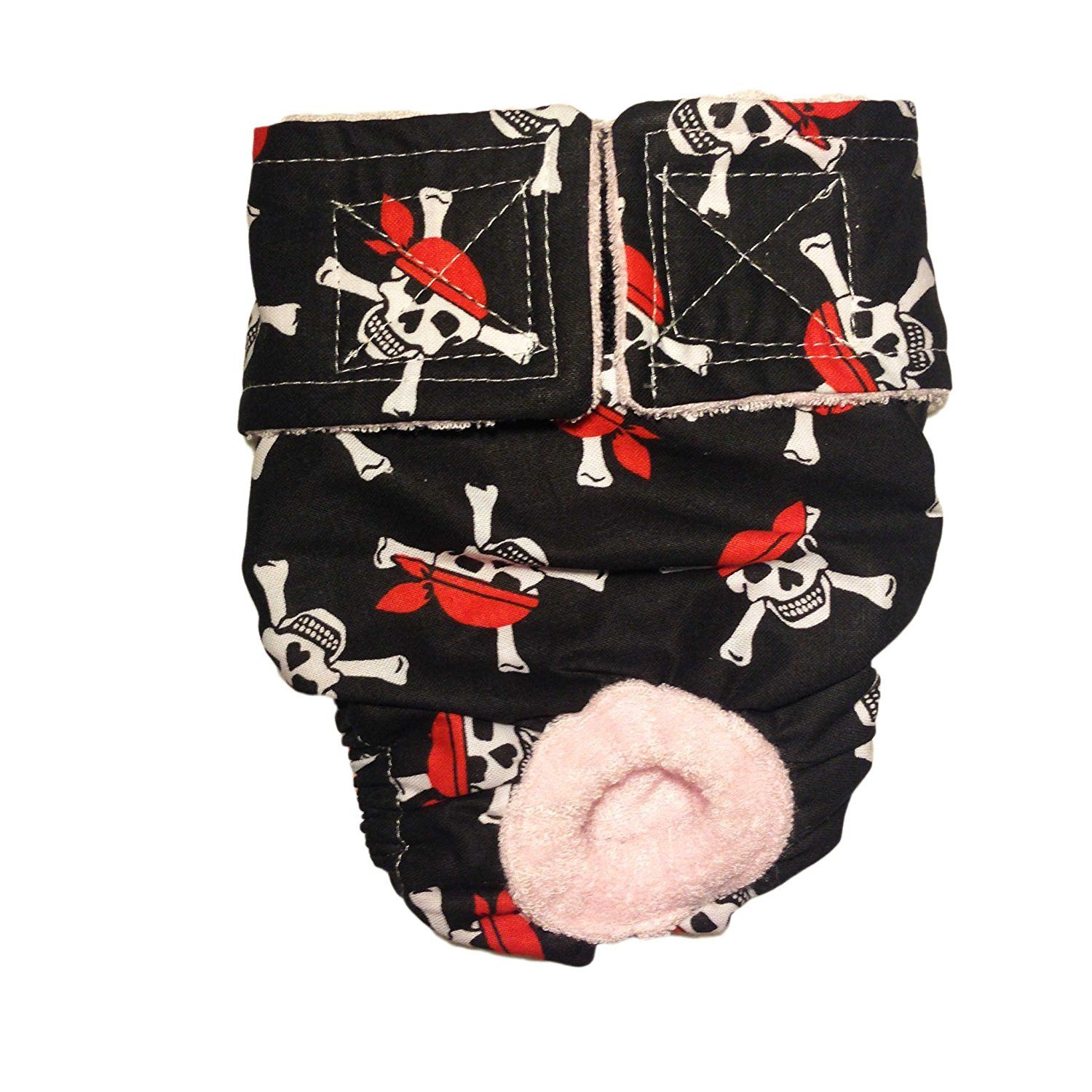 Cat Diapers Made in USA Crossbones Washable Cat Diaper