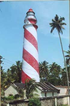 One And Only Kerala Thangassery Beach With A Lighthouse In Kollam