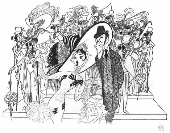 My 2nd favorite movie of all time: My Fair Lady [caricature adaption]