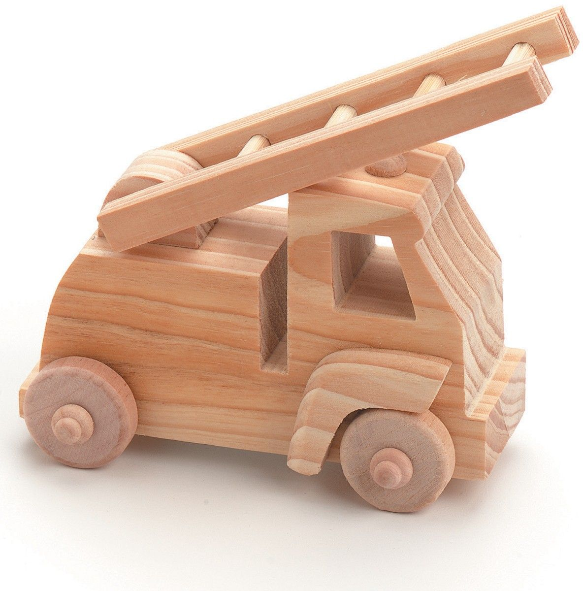 Fire Truck Wood Toy Kit