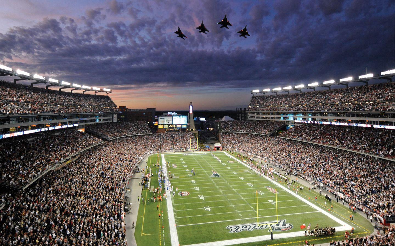 Gillette Stadium Flyover Wallpaper 1440 X 900 New England Patriots Wallpaper Patriots Stadium New England Patriots