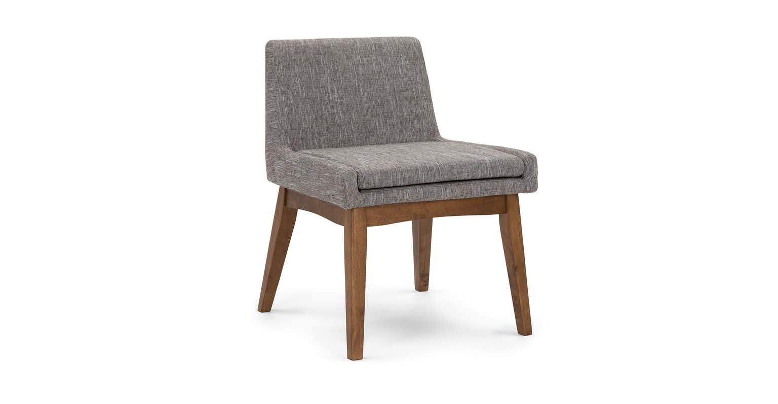 Chanel Volcanic Gray Dining Chair Gray Dining Chairs Midcentury Modern Dining Chairs Dining Chairs