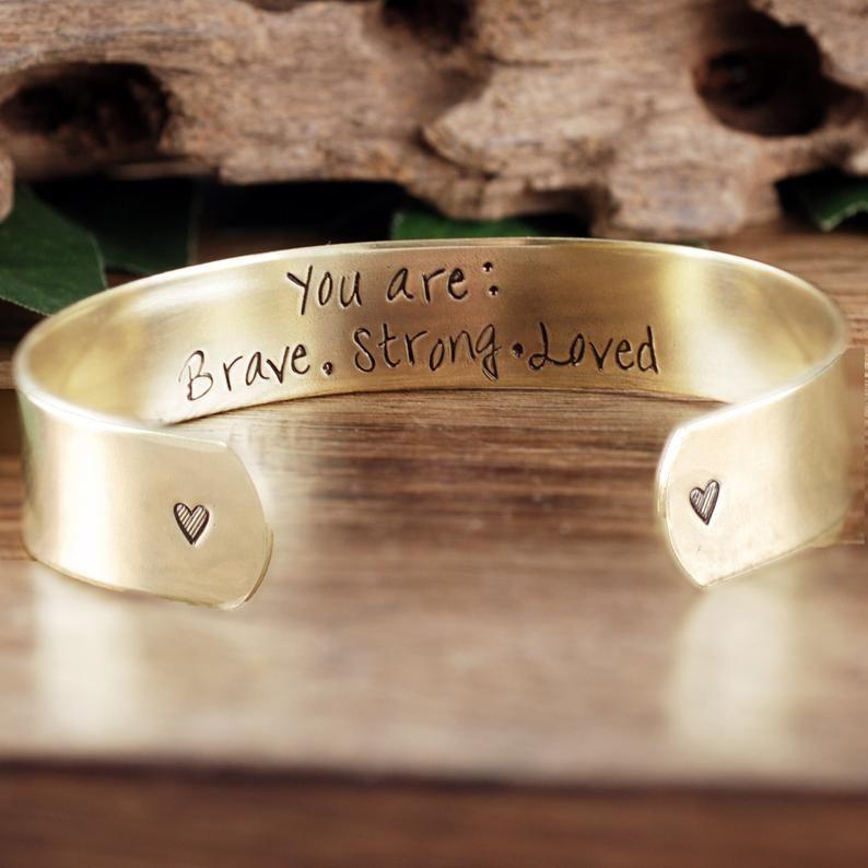 Custom Name Date Customizable Bracelet Personalized Cuff Bracelet Quote Hand Stamped Cuff Coordinates Stamped Bracelet Stamped Cuff