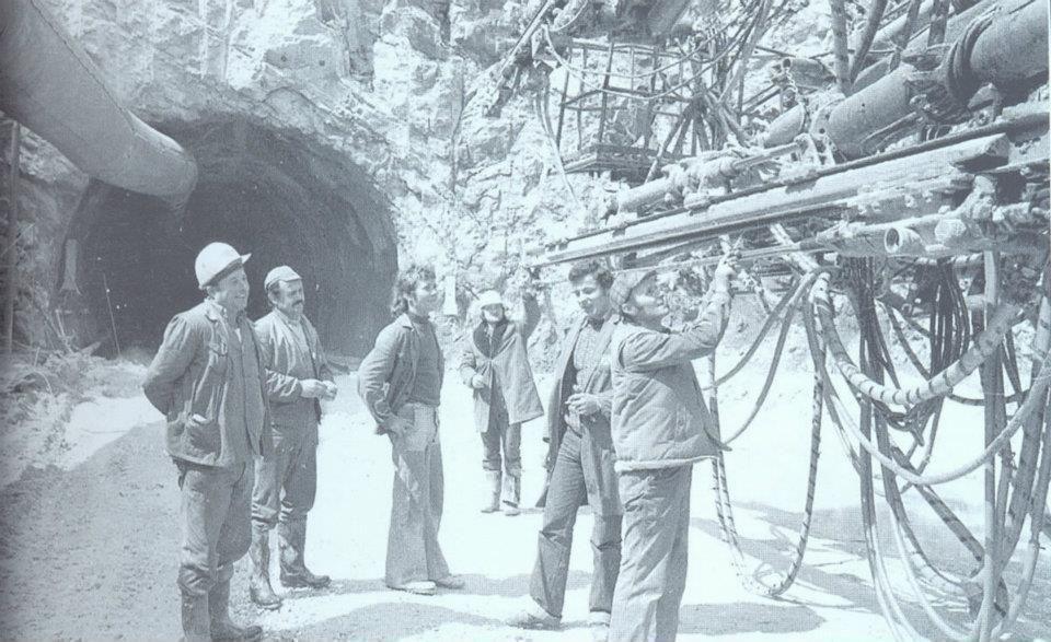 Učka - 1968. - radovi na tunelu