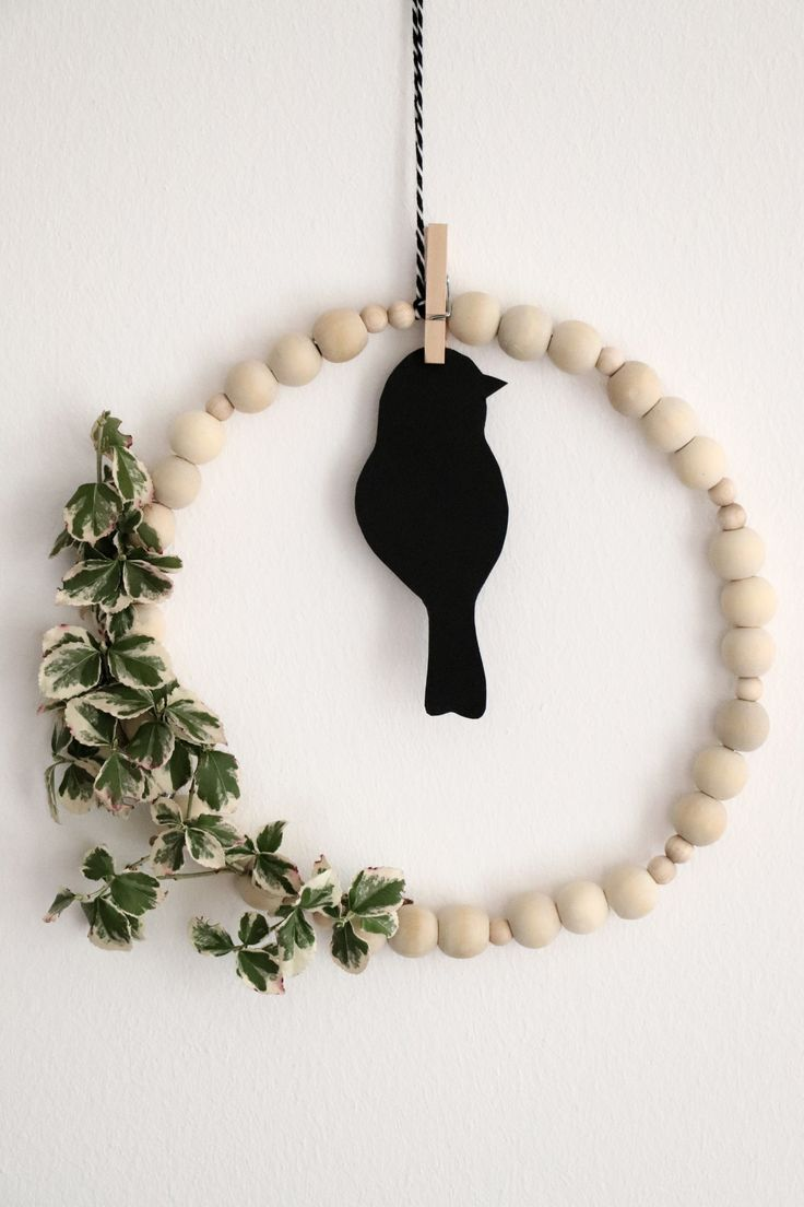 Photo of DIY: Scandi wreath made of wooden balls – lavender blog