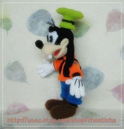 Goofy 12 Inches Pdf Amigurumi Crochet Pattern By Chonticha Crafty