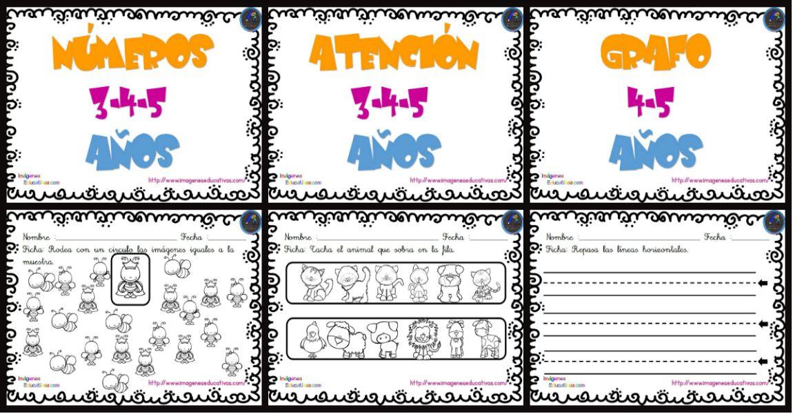 Cuaderno De Trabajo Escritura Atencion Y Numeros Para Infantil Y
