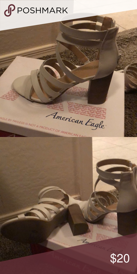 7ab8ad591217 American Eagle heels White with the thick block heel. Tried on in closet  never worn. American Eagle By Payless Shoes Athletic Shoes