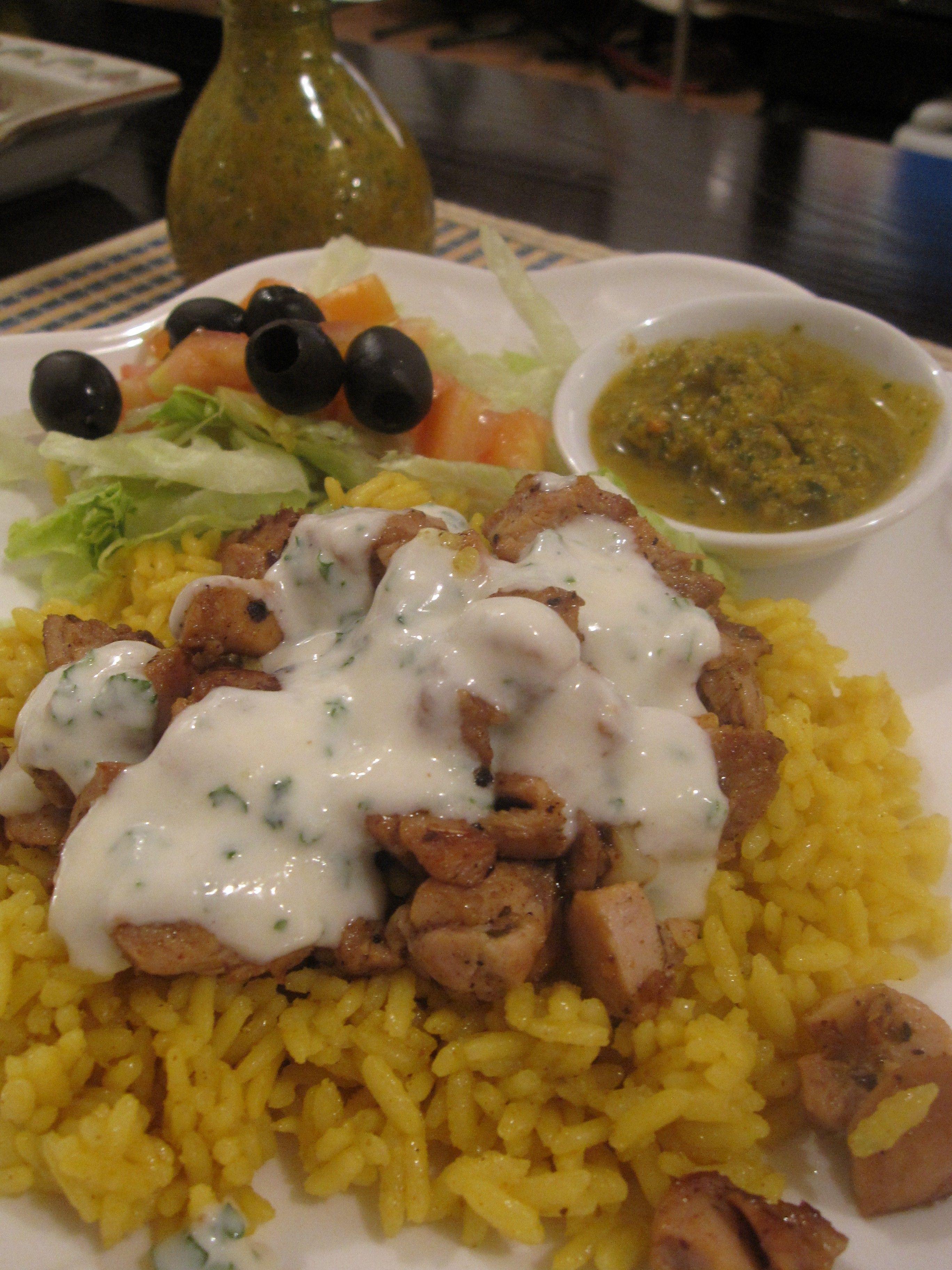 Ny Halal Food Cart Style Chicken Over Rice Halal Recipes Food Recipes