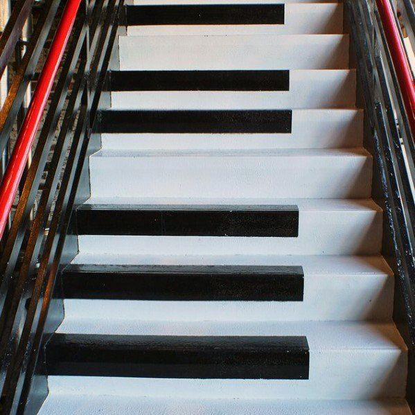Top 50 Best Wood Stairs Ideas: Top 70 Best Painted Stairs Ideas