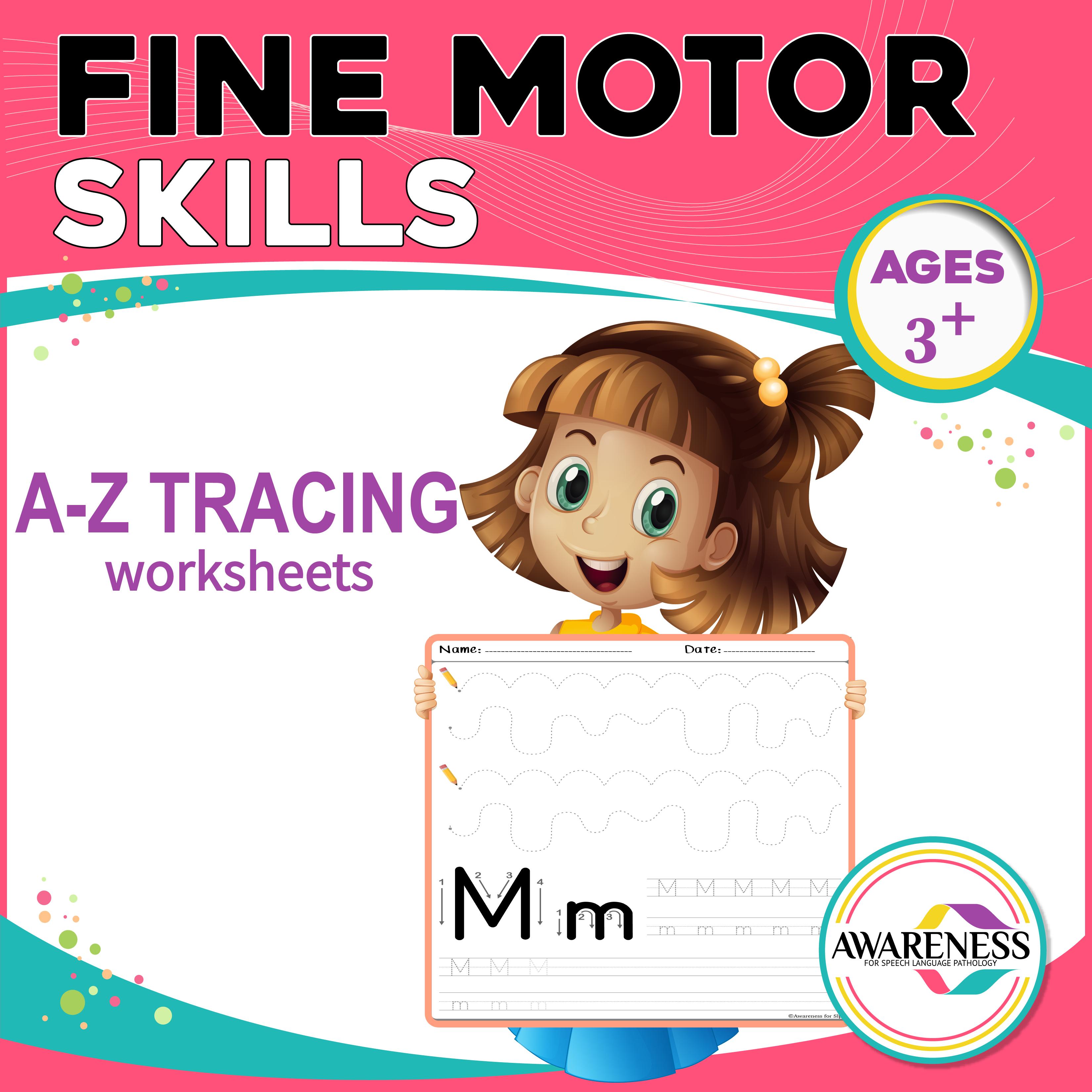 Fine Motor Skill Activity Alphabet Tracing Worksheets