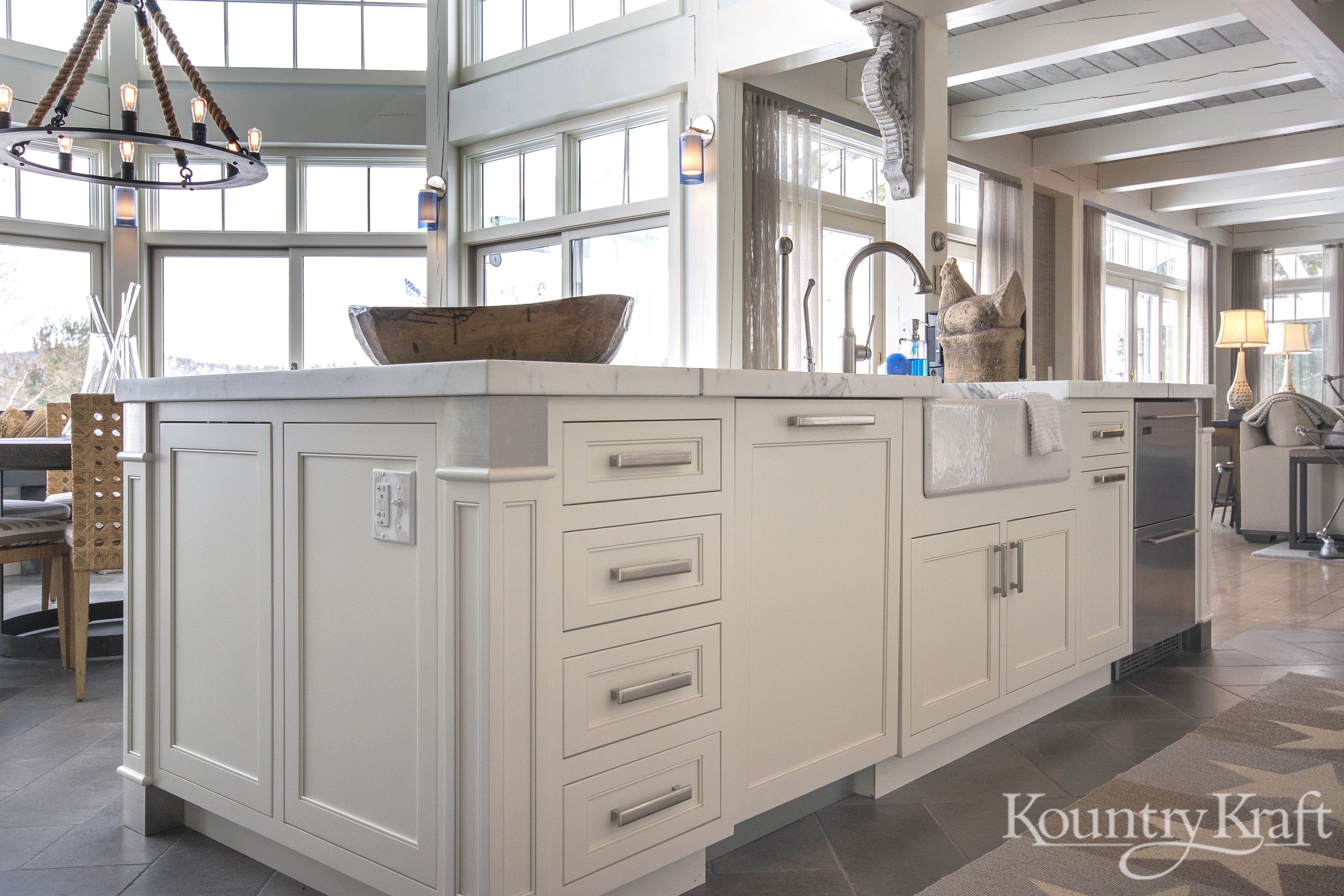 Custom Kitchen Cabinets designed by Stacy Nawoj of Pinnacle Kitchens in New Holland NH. This transitional style kitchen is an inset/no bead cabinet style ... & Custom Kitchen Cabinets designed by Stacy Nawoj of Pinnacle Kitchens ...