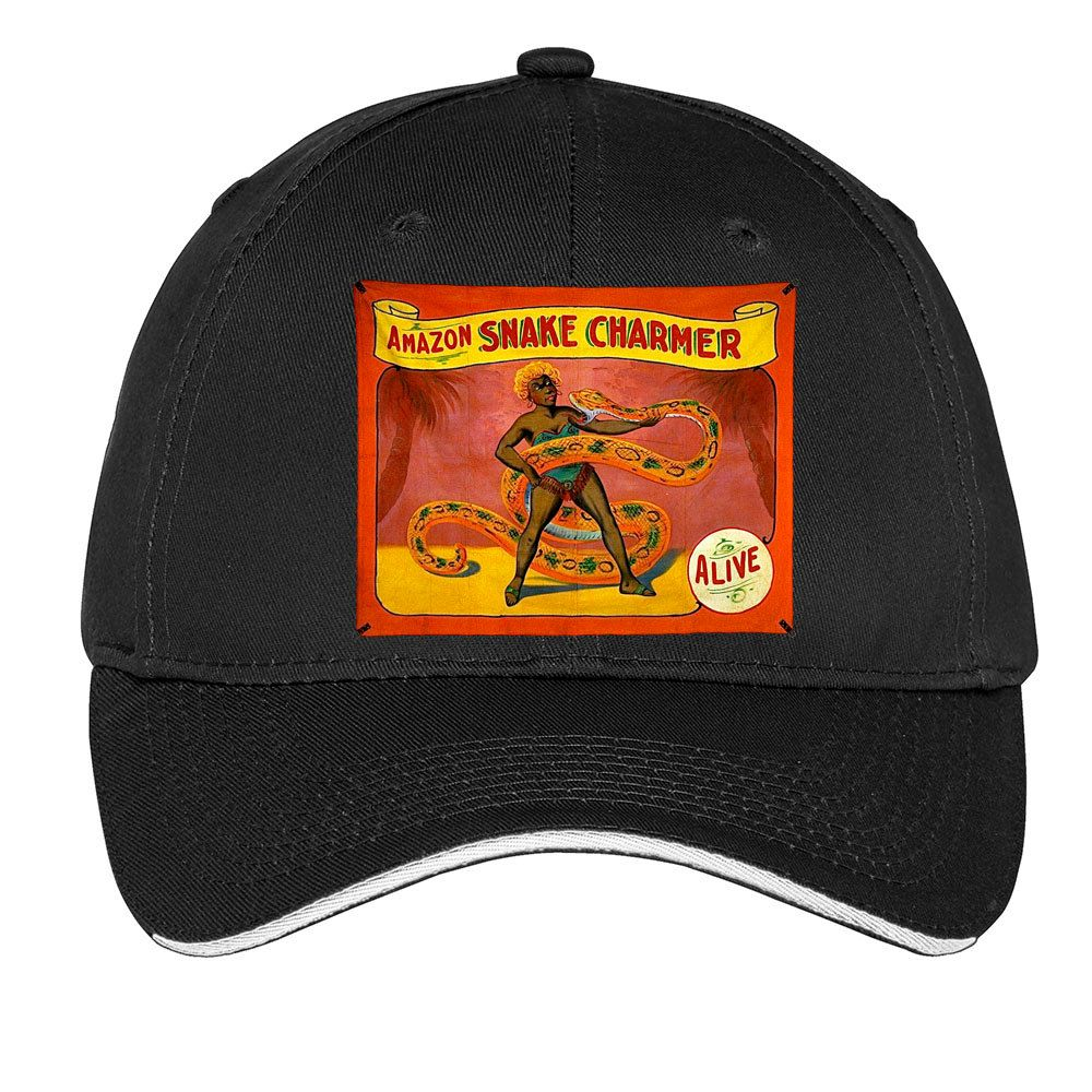 Amazon Snake Charmer Cap Baseball Hat Dad Hat Truckers Hat Vintage  Advertisement Circus Poster by TimeofReason on Etsy 2131dc31587