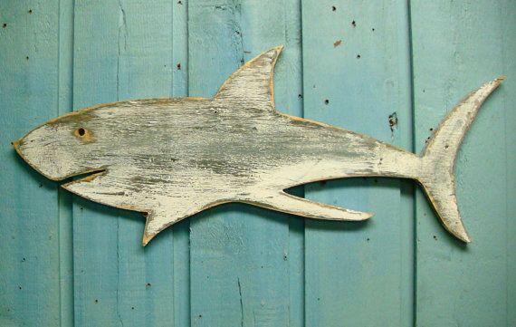 Great White Shark Sign Beach