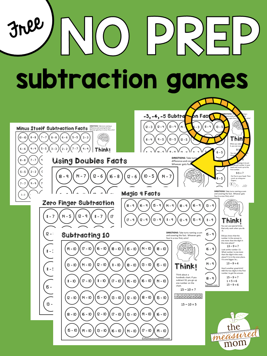 Free math games that teach subtraction strategies | Subtraction ...
