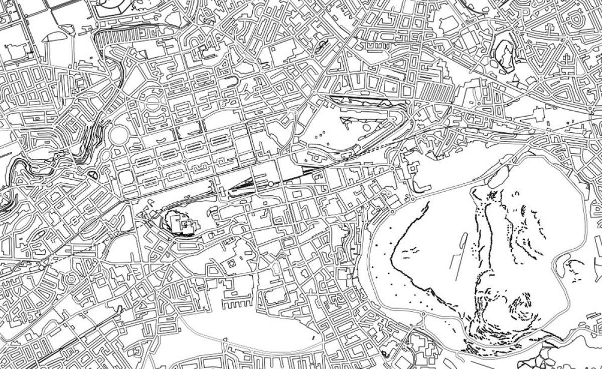The sprawl of Edinburgh with the flattened bulk of Arthur ...