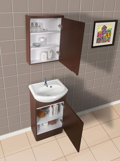 Narrow bathroom vanities with 8 18 inches of depth more for Bathroom cabinets narrow depth