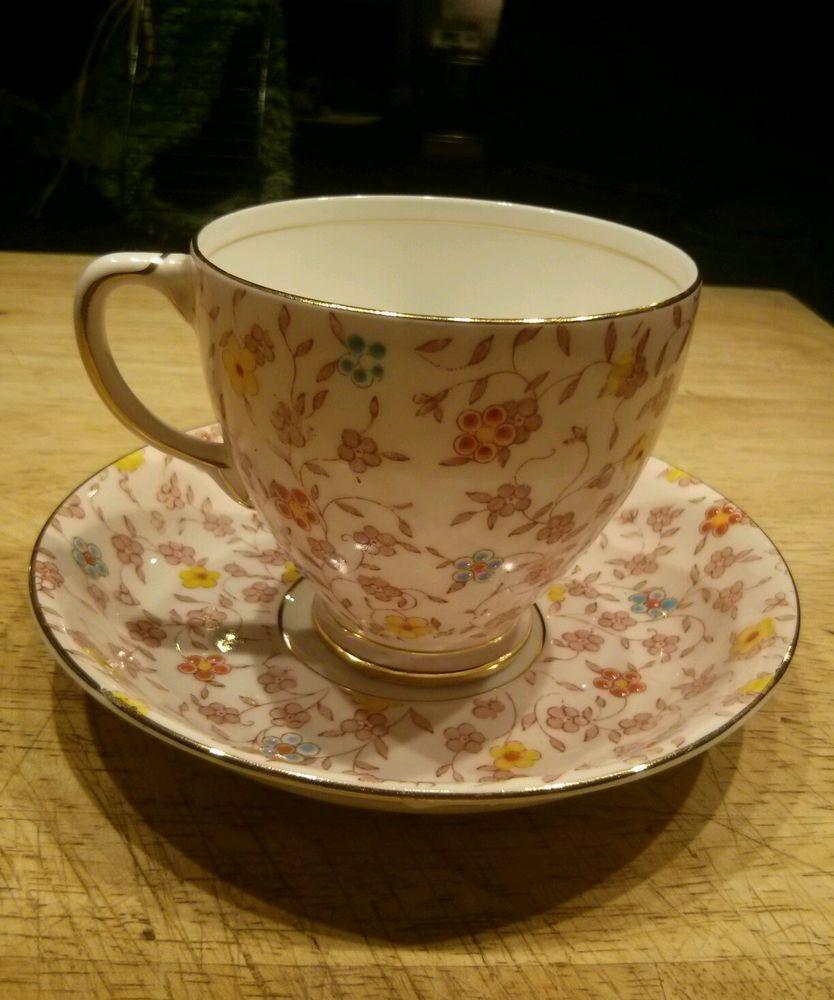 Vintage Unique Textured Tea Cup and Saucer