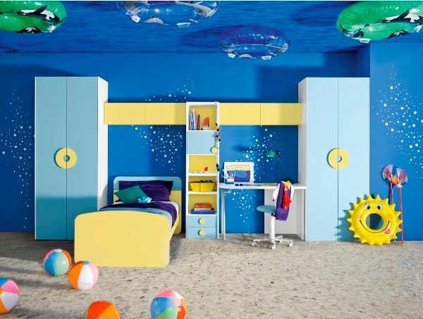 Beach And Ocean Themed Rooms With Images Modern Kids Room