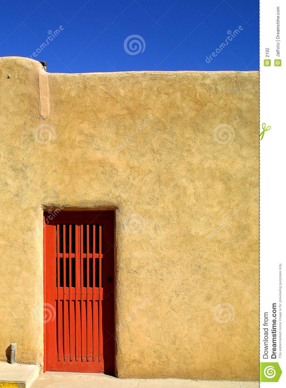 Doors ON ADOBE HOUSES | Red door of Adobe house | OAKWOOD FLOWER ...