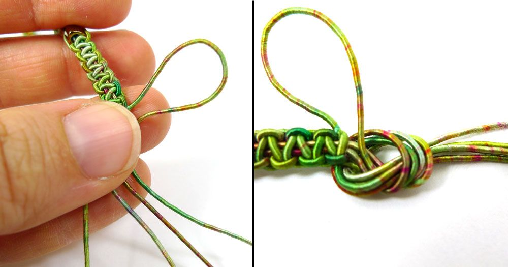 1de536c67d3d3 a nice way to make a loop at the end of a macrame bracelet or ...