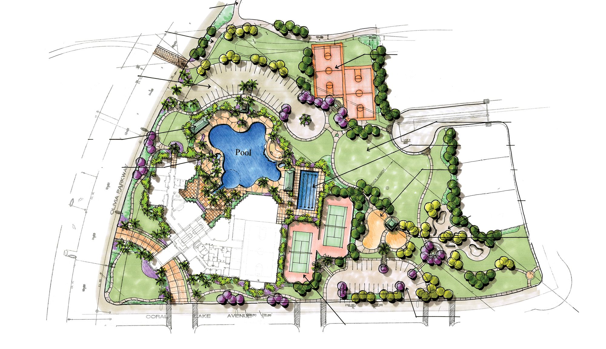 Concept Design For Tuscany Village Recreation Center Recreation Centers Pinterest