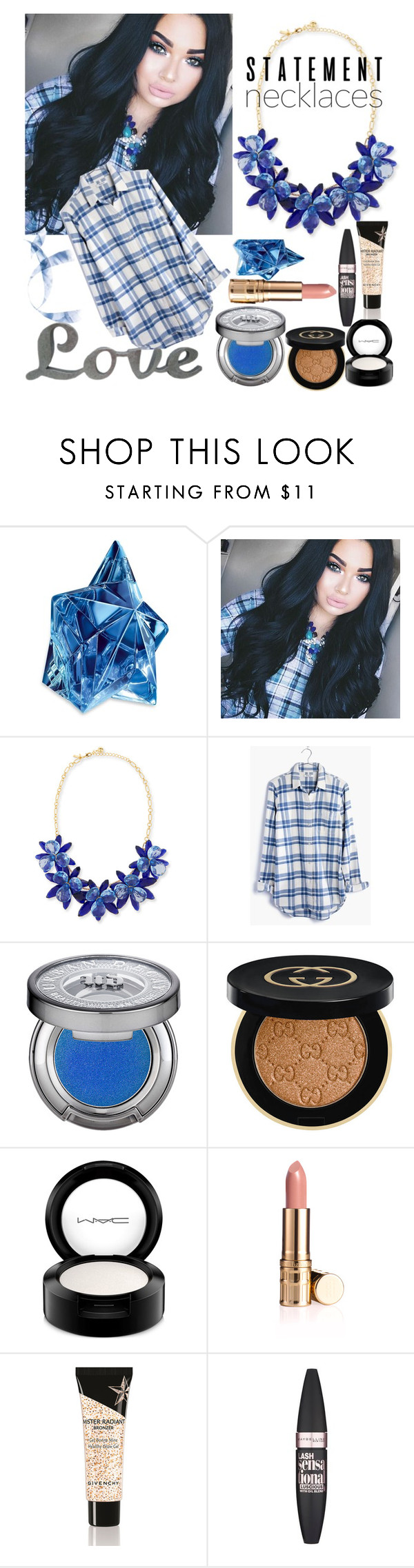 """""""Untitled #17"""" by alexandrairinamihai ❤ liked on Polyvore featuring Thierry Mugler, Kate Spade, Madewell, Urban Decay, Gucci, MAC Cosmetics, Elizabeth Arden, Givenchy and Maybelline"""